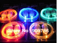 Promotion Best Price 3th Flashing LED Shoelace, fiber optic light lace, super bright LED, high transparent optical fiber