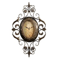 Fashion Vintage Clock Wrought Iron Wall Clock Living Room Decoration New House Wall Decoration Quartz Clock and Watch