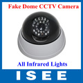 Super Realistic CCTV Security Dummy Fake Dome CCTV Camera With IR LEDs Lit up By Itself At Night free shipping china post
