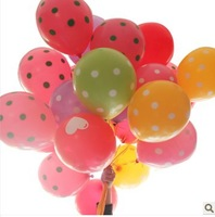 12'' Colorful Polka Dot Round  Latex  Balloon For Wedding Christmas Party Decoration