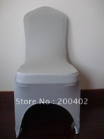 free shipping silver spandex chair cover for weddings