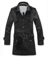 2013 new stripe trench outerwear thin casual clothing Autumn slim medium-long windbreaker