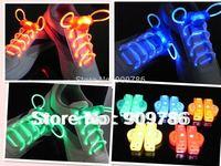 High quality 100pcs/lot (50paris) promotion Flashing light up LED Shoelace Blister packing free shipping