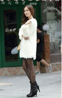 Free shipping  love story fashion plush outerwear new arrival berber fleece fur overcoat faux fur coat