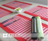 Color bar  Placemats cotton fabric mat western pad disc pads bowl  dining table mat  Insulation pad