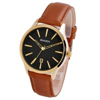 72035 Japan movt Luxury Men's Fashion Wristwatch 2014 New quartz Watch Date watches Leather band Free Shipping