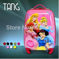 2014 Summer  KId cartoon Four princess AG Bird D isney trolley luggage Kids luggage trolley bag suitcase for travel