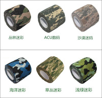 Free shipping 3pcs/lot 4.5m Kombat Army Jungle Camo Wrap Rifle Shooting Camouflage Stealth Tape Kinesiology Sport Bandage