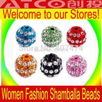 500pcs/lot Color options Shamballa Beads 10mm beads crystal Wholesale Free Shipping Shambhala Beads Micro Pave disco ball beads