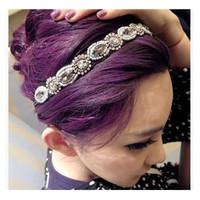 Korean Imitation Diamond Hair Rope Retro Nightclub Queen Rose Hairband Fashion Insider Accessories Headband