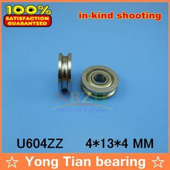 High Quality 4mm Walking guide rail groove of type U groove pulley bearings embedded 604UU 4*13*4mm  free shipping U604 U604ZZ