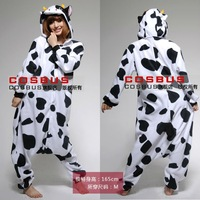 Adult Kigurumi Animal Milk Cow Sleepsuit Cosplay Pajamas Costume Halloween All in one Christmas Party