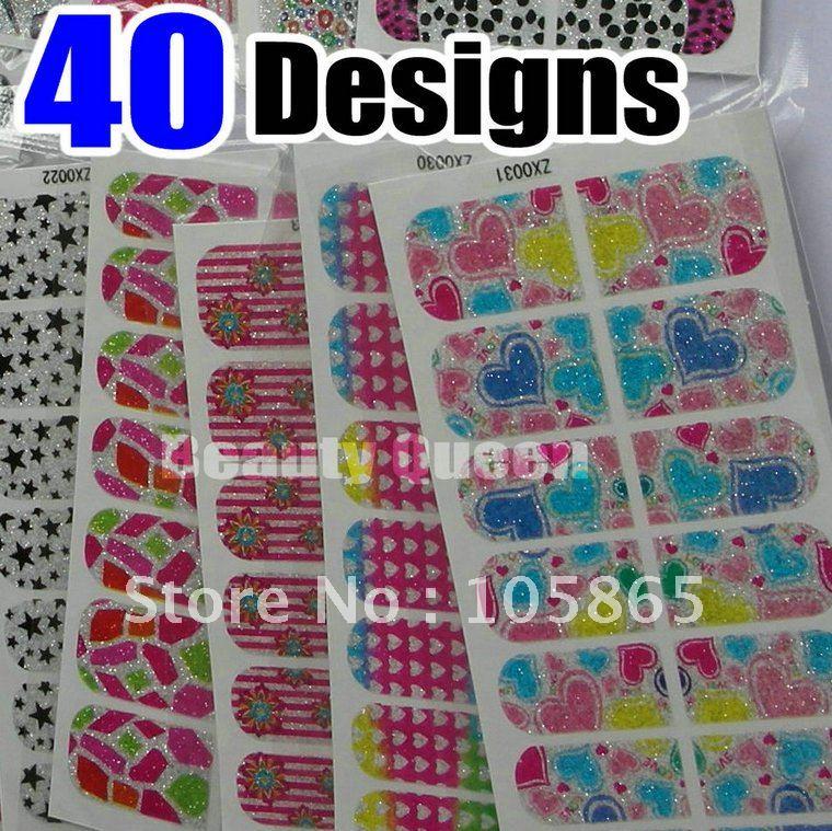 Glitter Sticker Nail Art