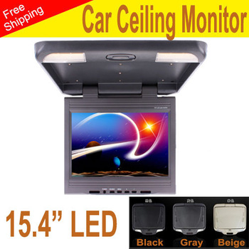 car Monitor 15.4 inch LED digital screen 2 Video input 1 Audio output  with screen rotated