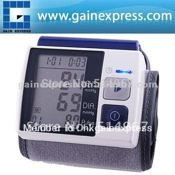 Presión arterial completamente automática Tipo de muñeca monitor Meter Auto Inflar Inflar / Deflate Diflating Sphygmometer Esfigmomanómetro