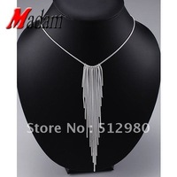 GSSPN026/silver  wedding necklace,snake -necklace.fashion jewelry,wholesale,Nickle free antiallergic ,factory price