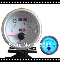 Free shipping 2inch 52mm LED blue light  Auto Gauge oil  press gauge LED7704