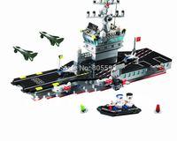 No.826 Aircaft carrier Enlighten Building Block Set Construction Brick Toys Educational toy compatible lego wthout original box
