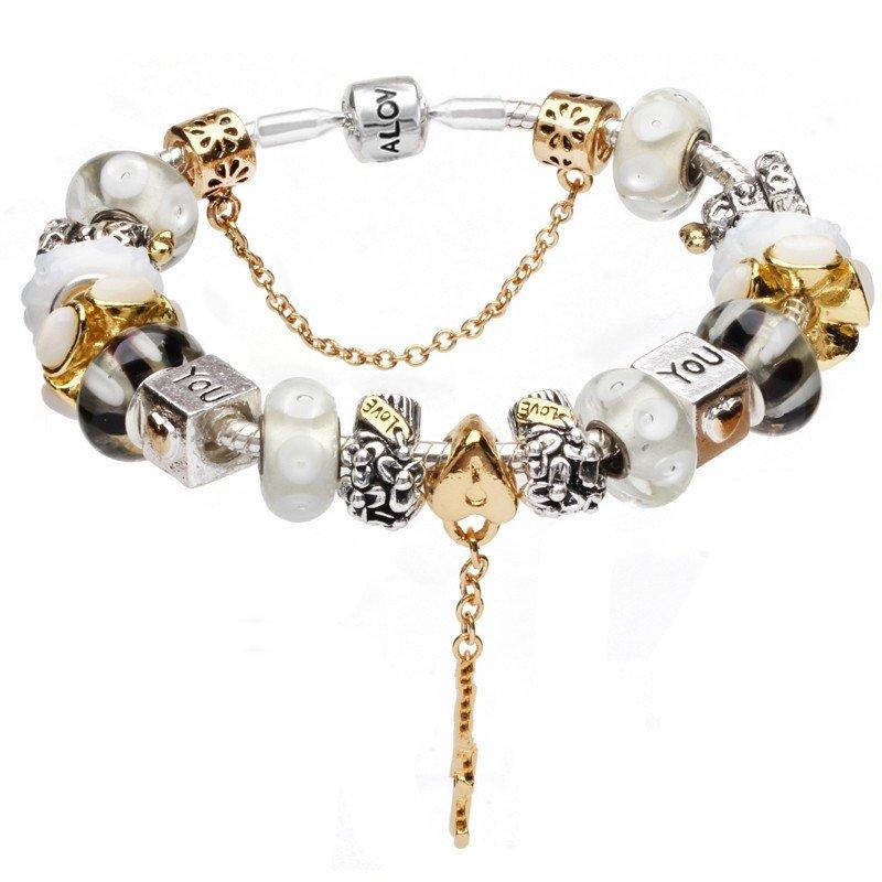 Quality wholesale european diy charm beads bt23 beaded bracelet jpg