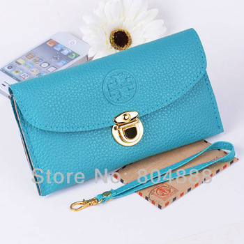 Free Shipping Fashion Women Hasp Wallet PU Leather  Purse Coin Purses Cellphone  Bag WholesalePrice