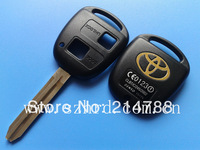 free shipping Toyota remote key case 2 buttons shell with TOY43 blade