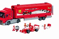 Without original box No 406 F1 Transport Truck Enlighten Building Block Set Construction Toys Educational toy compatible