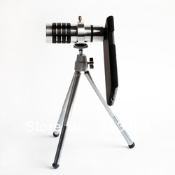 Cheapest $23.12 12x Manual Focus Aluminum Zoom Lens + Tripod Case Kit For Galaxy S3 i9300 Wholesale(China (Mainland))