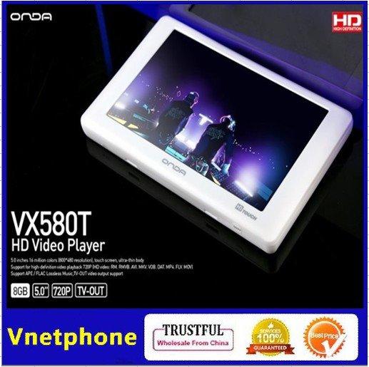 "201210 Onda VX580T 5.0"" LTPS 8GB Touch Screen MP4 Player 720P HD Video Media TV output E-book(China (Mainland))"