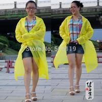 Outdoor translucent rain coat multi color , LJF