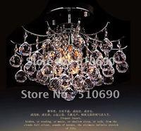 Chandelier Light Ceiling K9 Crystal International Cable Free LED bulb D400MM 110-240V Simple Design LED Room/Parlour/Restaurant