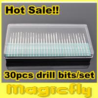 "[DKQ]30PCS/set In one box Drill Bits Kits Nail Drill Set Shank 3/32"" Manicure and Pedicure Dropshipping"