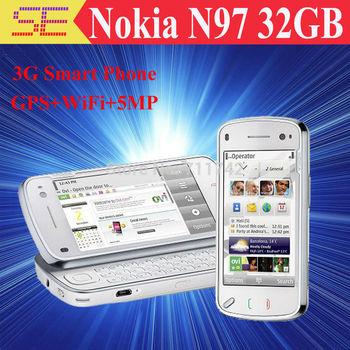 Nokia N97 32GB unlocked mobile phone GSM 3G GPS WIFI 5MP Russia keyboard Free shipping