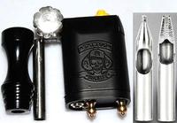 Tattoo Rotary Motor Machine Liner/Shader Gun with 1 grip 2tips