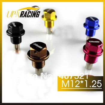 (20pcs/lot)M12*1.25 High quality aluminum magnetic oil drain Plug  sump drain Nut oil-pan plug for nissan toyota