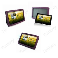 "New For Acer Iconia Tab 10.1"" A200 Tablet Folding Faux Purple PU Leather Free Stand Folio Case Cover Skin Free Shipping #AC315"