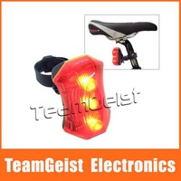 NEW High Quality Waterproof Cycling bicycle 3 Super bright LED Bike Rear Tail Lamp Light with 2 Modes Free Shipping