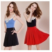 Free shipping ,2012 fashion style  miniskirt female high Waist  fashion skirt