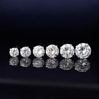 2014 spring summer newest fashion 925 tremellales full pure silver 925 silver zirconium diamond female small stud earring