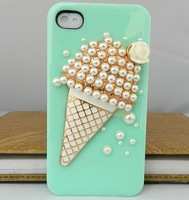 Free Sgipping Super Deal Ice cream Cartoon Style loves case for iPhone4 and iPhone 4s case cover