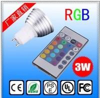 Free shipping hot sell 3W MR16 GU10 GU5.3 E14 E27 RGB led light Remote Control LED Bulb Light 16 Color Changing 110V~240V