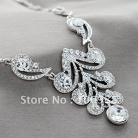 A0198 5sets/Lot Free Shipping Bridal Jewelry Set Silver Crystal Rhinestone Lady Costume Partyware Fashion Apparel Jewelry