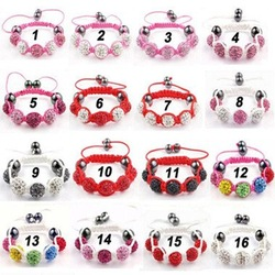 10mm 5 Crystal Ball Shamballa Bracelet.Cute SDD4533 Bracelets Christmas Halloween Gift! Perfect Fit 8-12 Years Old Kids.(China (Mainland))