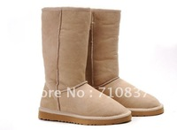 Fashion Colorful Lady cow leather winter snow boots,Out door women waterproof tall high boots 5815, W5-W10