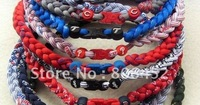 Wholesale hot selling US Baseball tornado Titanium necklaces 80 Custom Size Mix teams no box