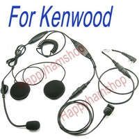 Motorcycle helmet headset for Kenwood TK-3107 Wouxun KG-UVD1P Baofeng UV-5R two way radio