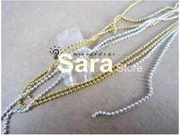 Free shipping-8m/bag Silver String Beads Nail Art Decoration Tool  cell phone decorating kits