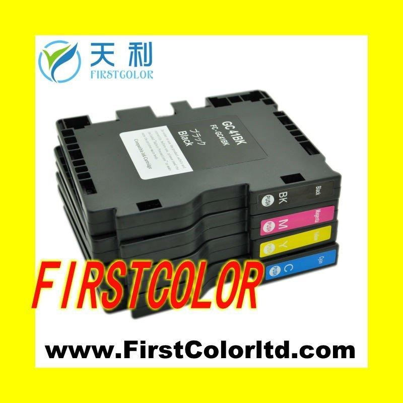 X4pcs gc41 1set compatible for ricoh ink cartridges gc41c gc41