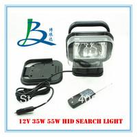 35W 24V hid work light/hid marine search light/hid xenon spotlight wireless remote control