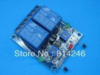 Free  shipping  !!!5pcs  2-way thermal sensor and relay combo module the multifunctional  temperature sensor module