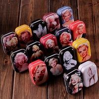 M32-093 Free Shipping/New vintage style sexy Marilyn Monroe series quality iron case / storage case /  tin box